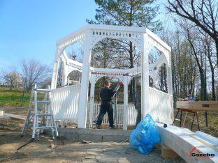 Victorian garden pavilion